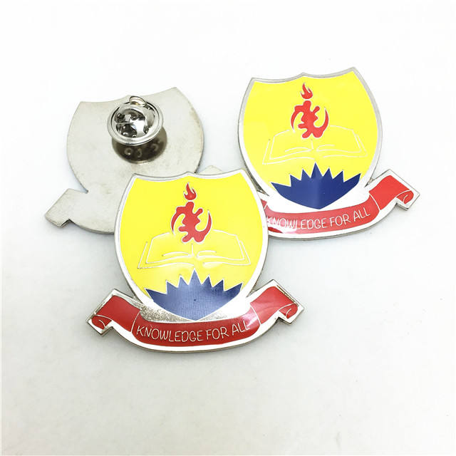 Badge pin custom for work suit / Ghana school badge custom clothes label pins