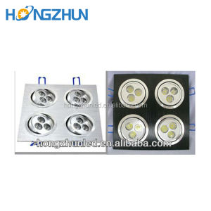 Fabricage high power 4*3 w led grille lampen