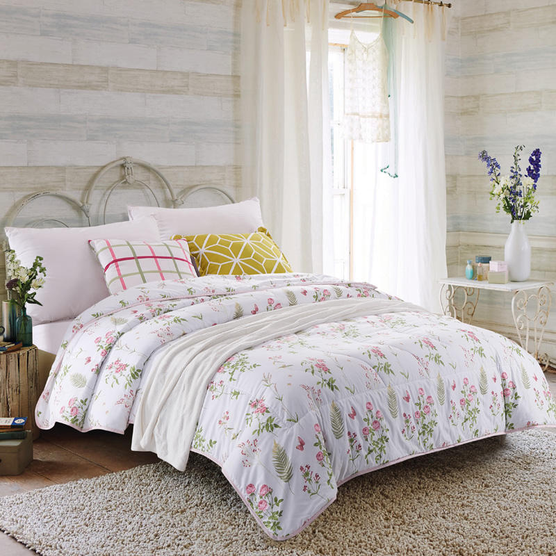 china factory direct wholesale cheap 100 polyester summer quilt
