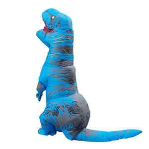 Custom blue red t rex dinosaur costume adult halloween walking dinosaur costume