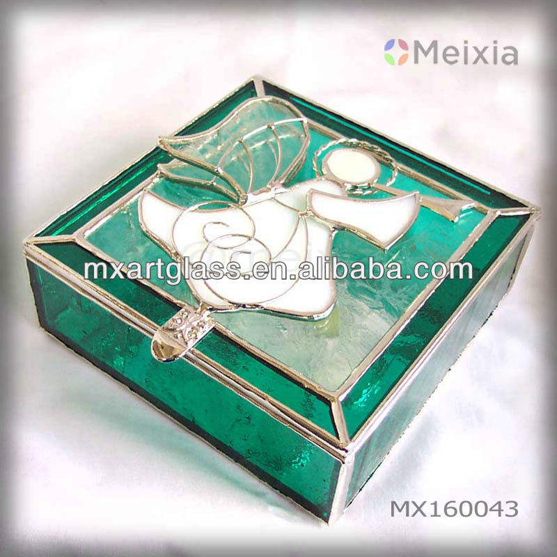 MX160043 china wholesale stained glass jewel box for home decoration