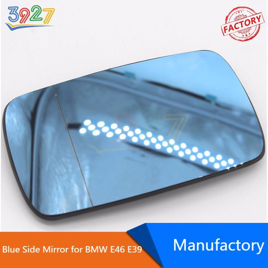 Right Driver side blue Wide Angle mirror glass for BMW 3 Series 2005-08 heated