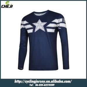 كابتن أمريكا cheji بطل سلسلة جديدة طويلة الأكمام قمصان الملابس الرياضات الشتوية