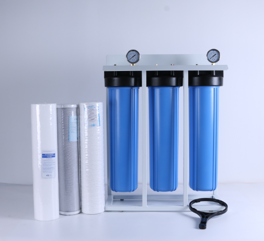 whole house 3 stage 20 inch BIG blue water filter with jumbo big blue filter housing