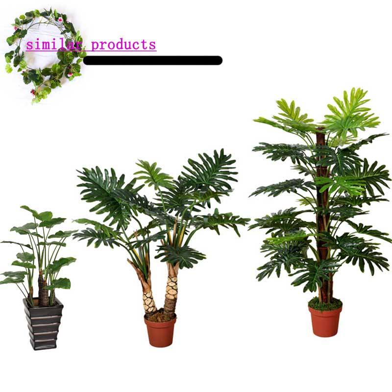 Hot sale Nearly natural Sago silk palm tree finished tole palm tree bonsai 4 foot green plant indoor Nursery for sale