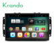 Krando Android 7.1 9'' full touch screen car dvd radio player for Chrysler Aspen 300C 2004-2008 gps navigation system KD-CC929