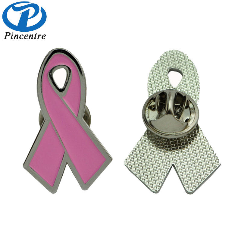 De Metal Rosa Fita Aids pin/Breast Cancer Awareness Lapela Emblema Do Pino
