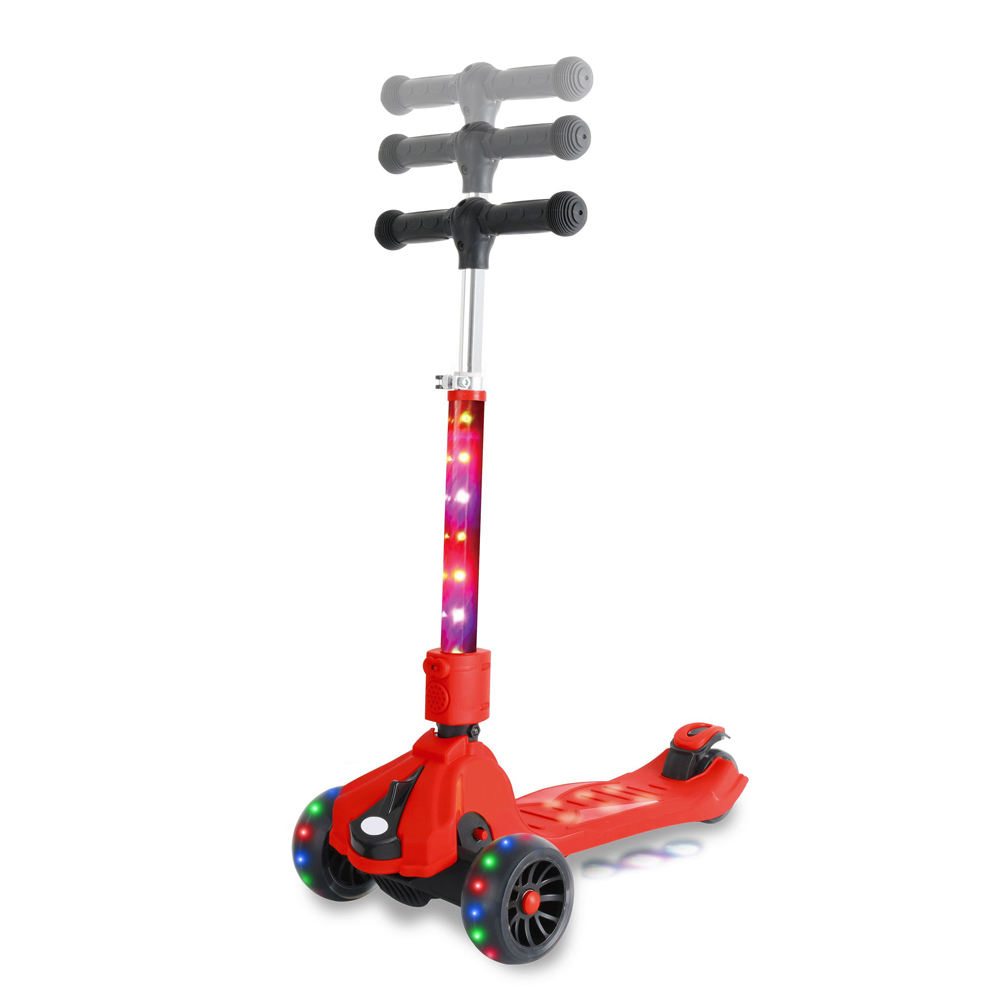 Top Quality LED lights Tube new fashion Kick Scooter for children