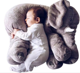 Dropshipping 60cm soft elephant plush toys cute elephant plush pillow toys baby children bed sleeping toys girl gifts