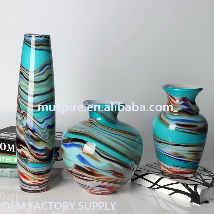 Direct factory price special glass rhombus flower vase beads