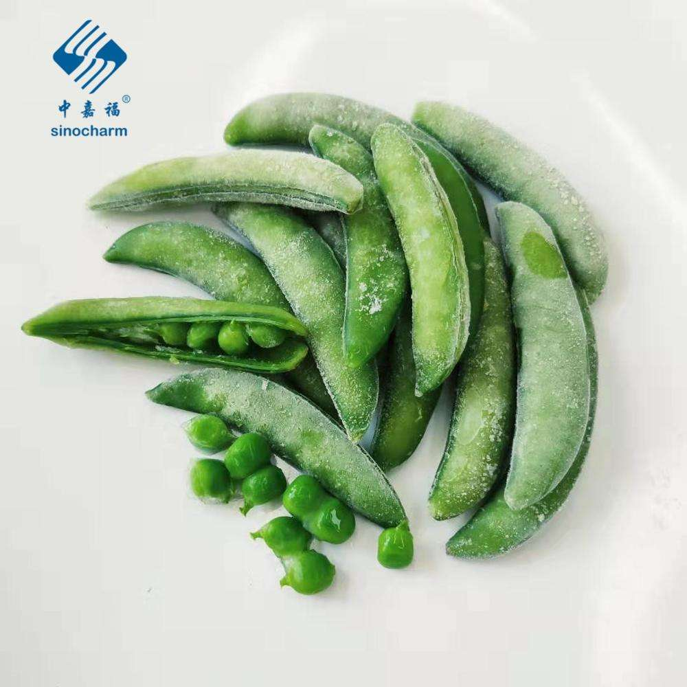2020 BRC Certified Double Size Stringless IQF Frozen Sugar Snap Peas
