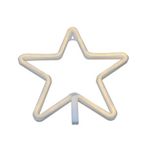 Hot verkoop star decoratie licht neon sign licht usb & batterij aangedreven led neon touw licht