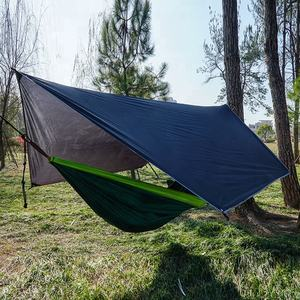 Waterproof Tent Tarp Rain Fly Hammock Tarp Cover Canopy Picnic Mat Blanket, Multi-functional Tent Shelter for Outdoor Travel
