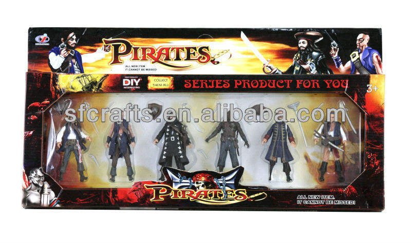 Kids Plastic action Pirate figures toys