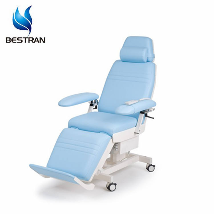 BT-DN014 Hospital Furniture Medical Electric Hemodialysis Chair mobile adjustable blood sample drawing collection chair price