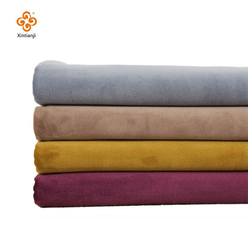 Ucuz fiyat metre başına çözgü % 100% polyester boyalı kadife kanepe kumaş