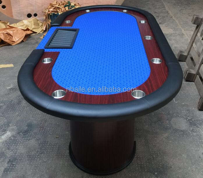 84 Inch Wooden Poker Table with plastic dealer tray