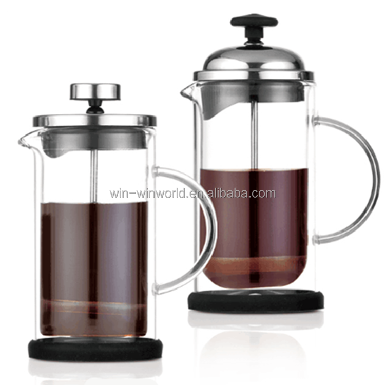 Winwin World 350 Ml Kapasitas Pyrex Kaca French Press Kopi & Teh