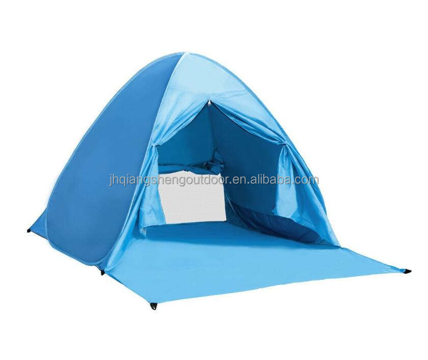 Pop Up Tent Rusee Instant Portable Camping Tents 2 3 Person Fishing Anti UV Beach Shelter Outdoor Automatic Cabana Beach Tent