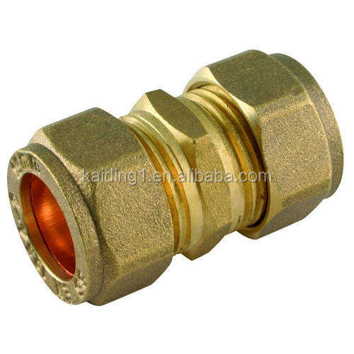 "Easy Install Brass Nipple 1/2"" Female Nipple Brass Yellow Compression Fitting forged"