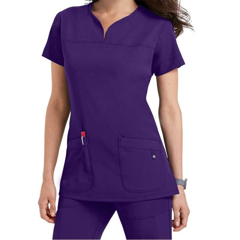 Scrub Tops Alluring Color Stretch Hospital Medical Uniforms/Fashionable Clinical Stretch Medical Scrubs Uniform/Stretch Scrubs