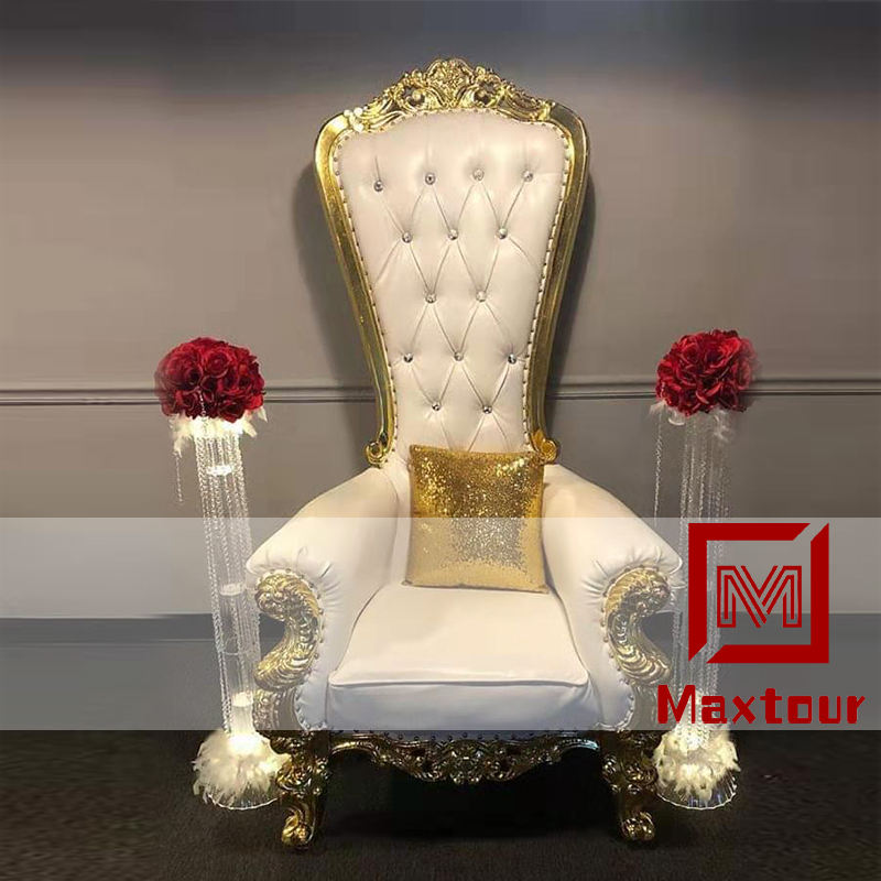 Cheap king throne chair event furniture throne chairs luxury wedding king and queen