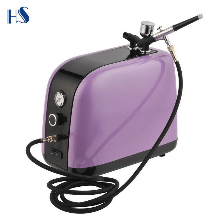 HS-386K Airbrush & Máy Nén Kit Dual-Action Spray Air Brush Set Hình Xăm