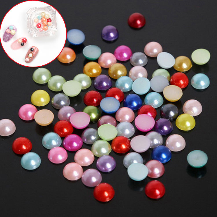 HYYX Handicraft Different Sizes Round Half Loose Bead