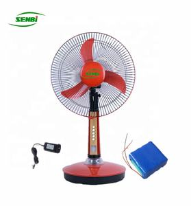 16'' 18 inch electronic rechargeable battery table fan with light