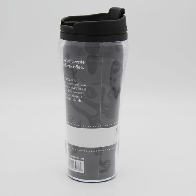 16oz Double Wall PS 16oz Plastic Coffee Tumbler Cup Mug With Paper Photo Insert