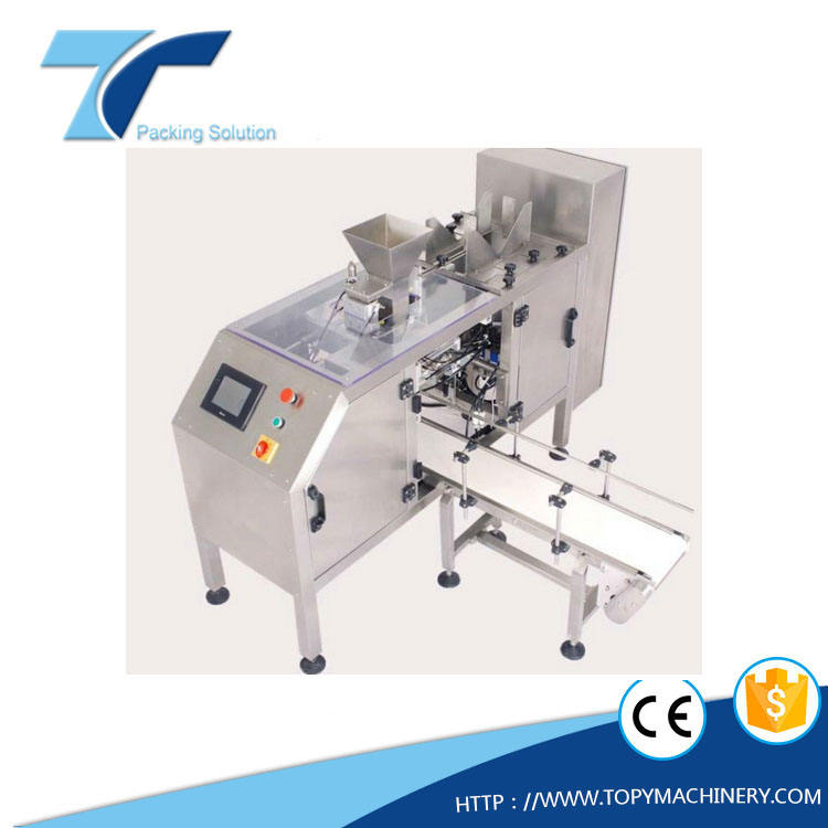 TOPY-MDP1 automatic mini bag-given sack filling and sealing packing machine
