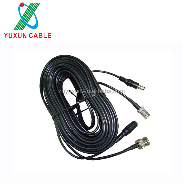 Packaging Customization Bnc Camera Cable Premade RG59 BNC Video DC Power Connector CCTV Camera Cable