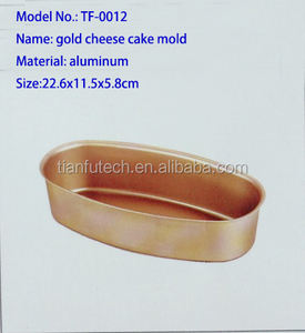 Gold Color Aluminum Oval Shape Cheese Cake Mold