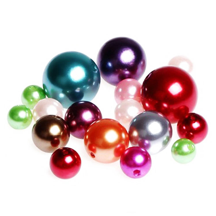 wholesale 3-30mm large loose bulk home decoration faux abs crafts plastic pearls with hole For vase filler garment accessories
