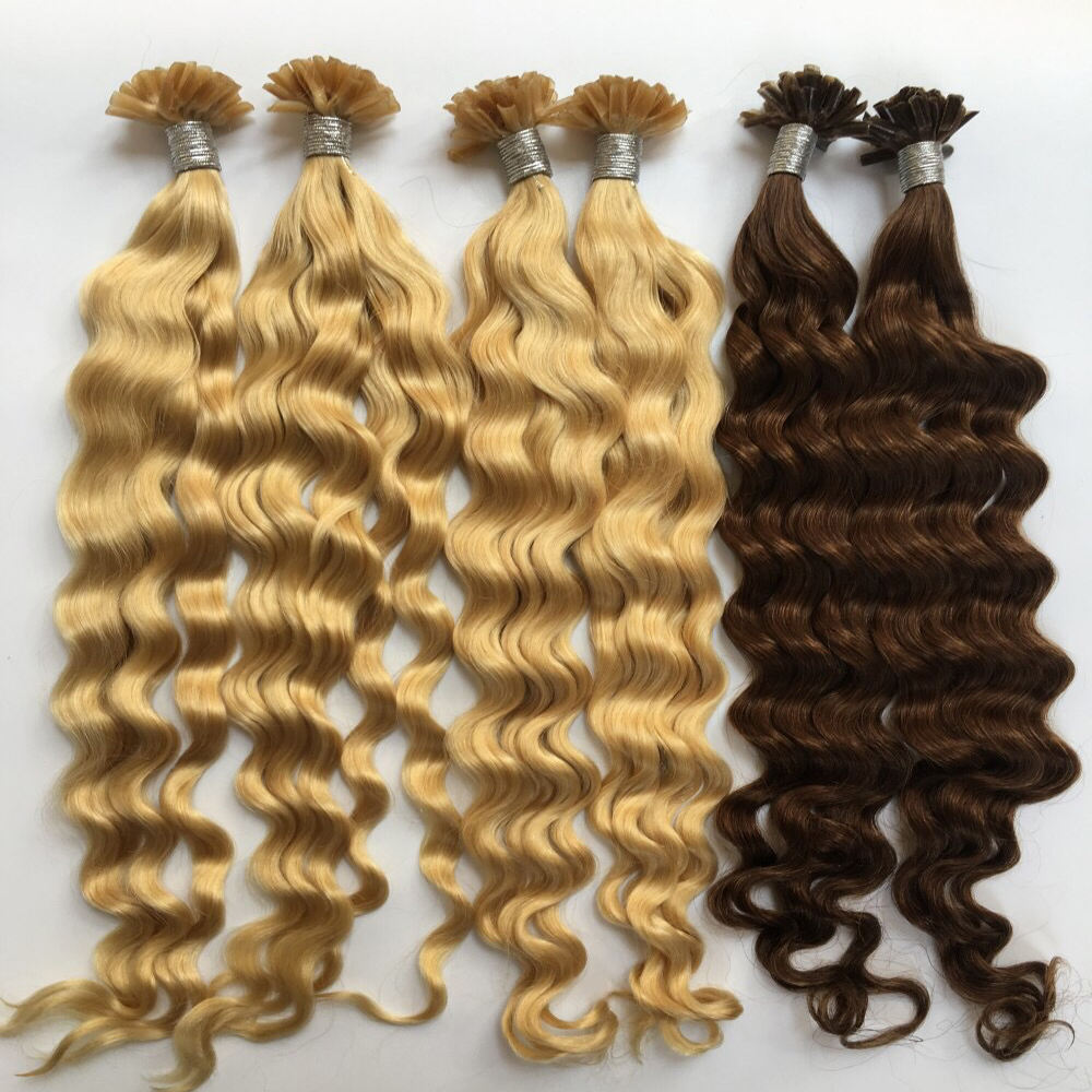 Factory Direct Wholesale Indian Virgin Hair 10A Nail Tip/U Tip Keratin Fusion Curly Human Hair Extensions