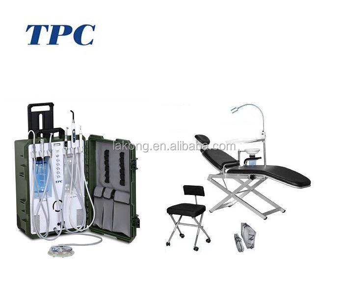 Portable Dental Folding Chair and Mobile Dental Unit with compressor suction system