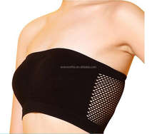 Women Strapless bandeau bra Breathable Sports Bras Bandeau Boob Tube with support
