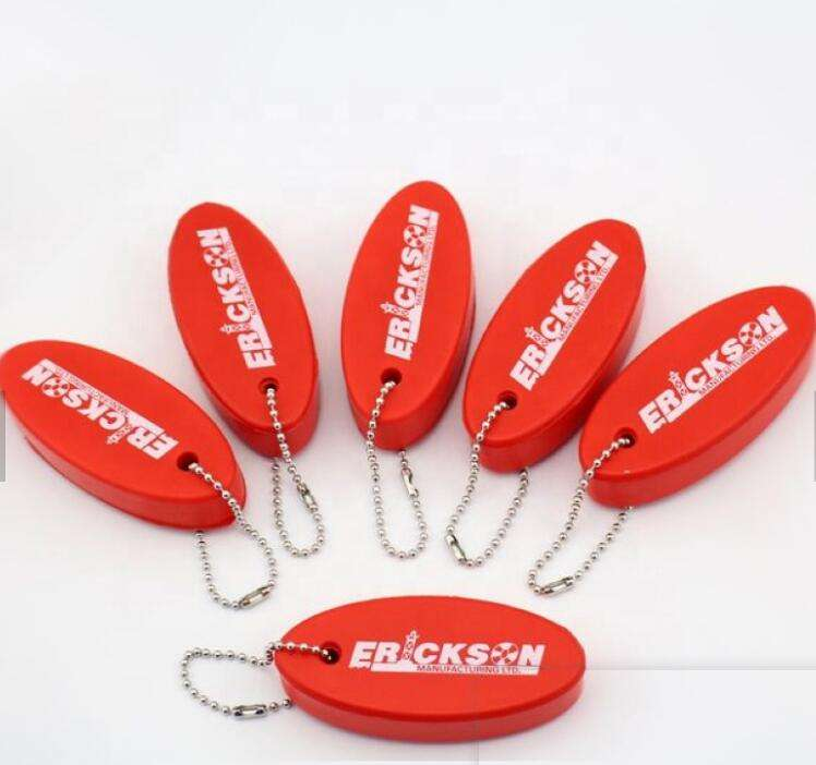 Custom PU Foam floating key chain keychain,floating foam key ring chains for promotional gifts