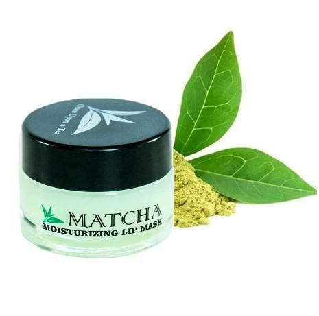Moisturizing Green Tea Matcha Sleeping Lip Mask Balm Best Solution For Chapped And Cracked Lips