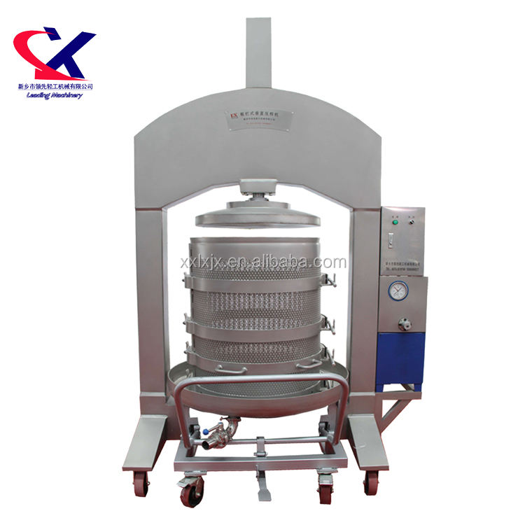 Leading Grape Processing Machinery Products Hydraulic Wine Press for sale 1.5t/h
