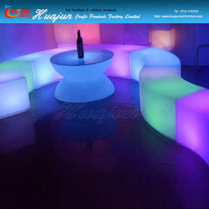 Brillo estupendo llevó silla de la barra y muebles de salón para eventos y Club, color cambiable LED bar muebles