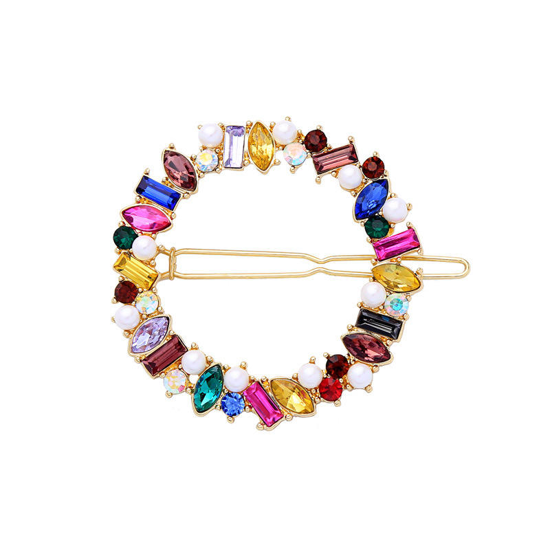 Wholesale Handmade Bridal Hairpin Fashion lovely multicolour crystal bobby pin hair accessories