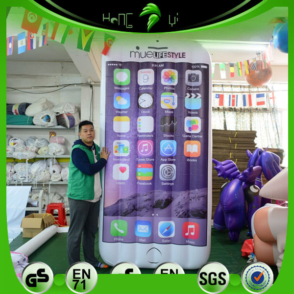 Hongyi 3mH Iklan Inflatable Smart Mobile Phone Bentuk Model Balon Hor Penjualan