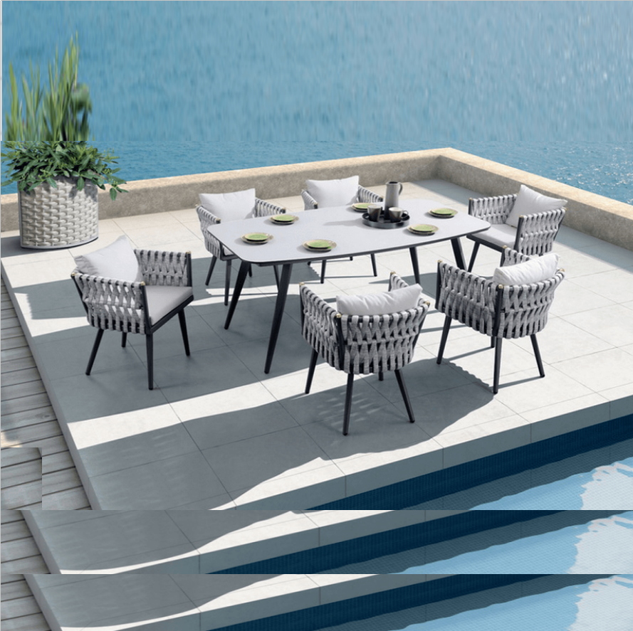 Factory Price Hot Selling Royal Hotel Rope Dining Set Patio Furniture Balcony Dining Table And Chair Garden Outdoor Furniture Buy Outdoor Furniture Dining Table And Chair Rope Dining Set Product On Alibaba Com