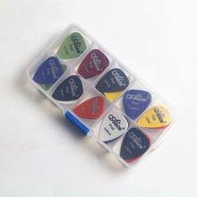 Colorful Customized Anti Slip Guitar Pick Box Logo Guitar Picks Standard Classic Mediator Acoustic