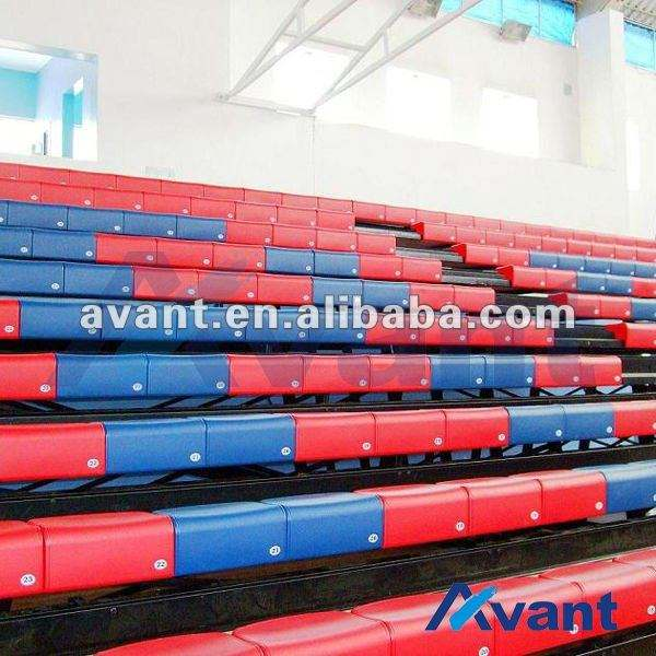 Vogue telescopic seating retractable seating sports tribune system rail telescopic cricket stadium chair