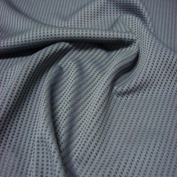 100% Polyester Warp Knit Polo Shirt Breathable Pique Mesh Fabric