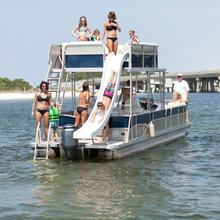 Luxury Double decker Pontoon boat For Sale With Bathroom