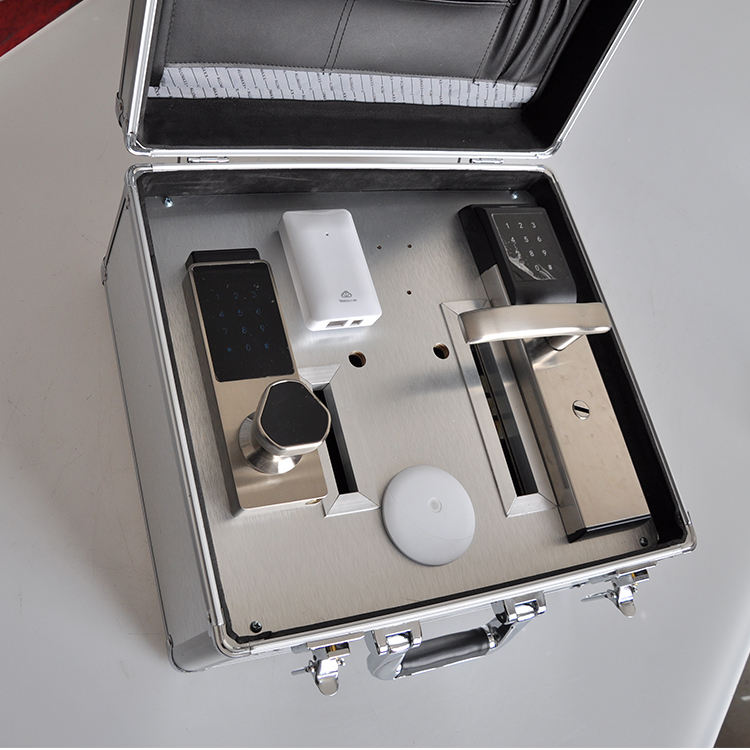 Hot Sell Aluminum Tool Box, Locking Aluminum Hardware Carry Case with Divider, Hard Tool Storage Case