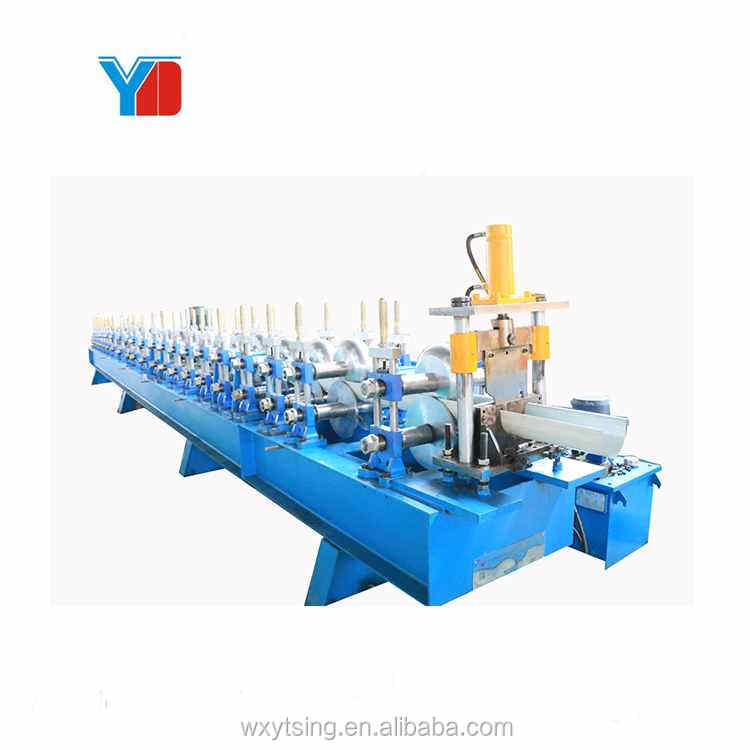 Passed CE And ISO YTSING-YD-7271 Galvanized Greenhouse Gutter Roll Forming Making Machine Top Grade